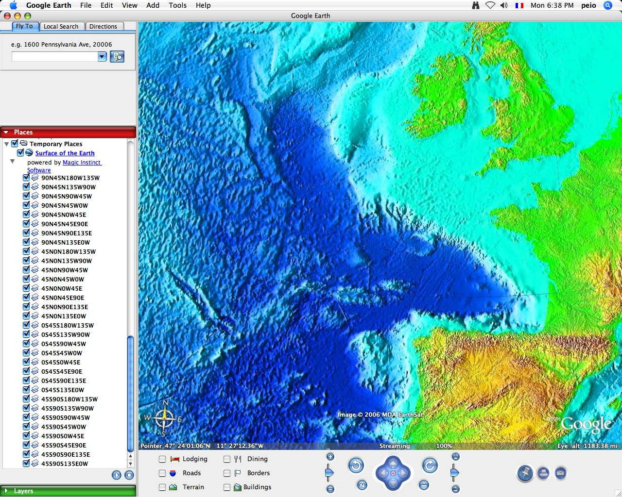 Google Ocean  Marine Data For Google Maps  Google Earth - Us elevation map google