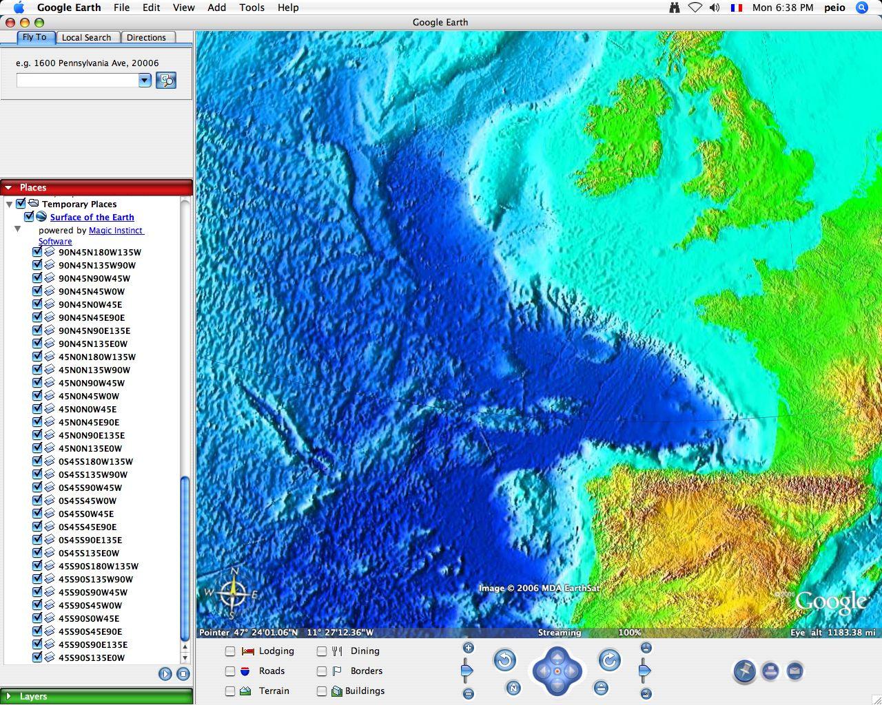 Google Ocean marine data for Google Maps Google Earth – Google Earth Map Uk