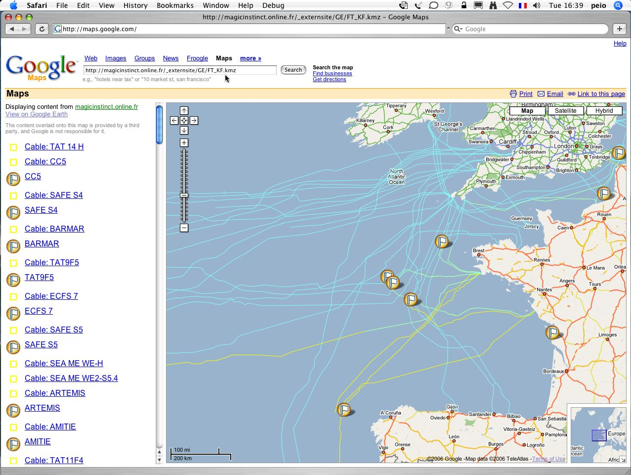 Google ocean marine data for google maps google earth france telecom kingfisher cables via kmz file in google maps httpmaps googlemaps gumiabroncs